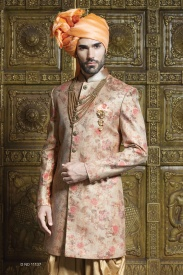Light Pink With beige Sherwani